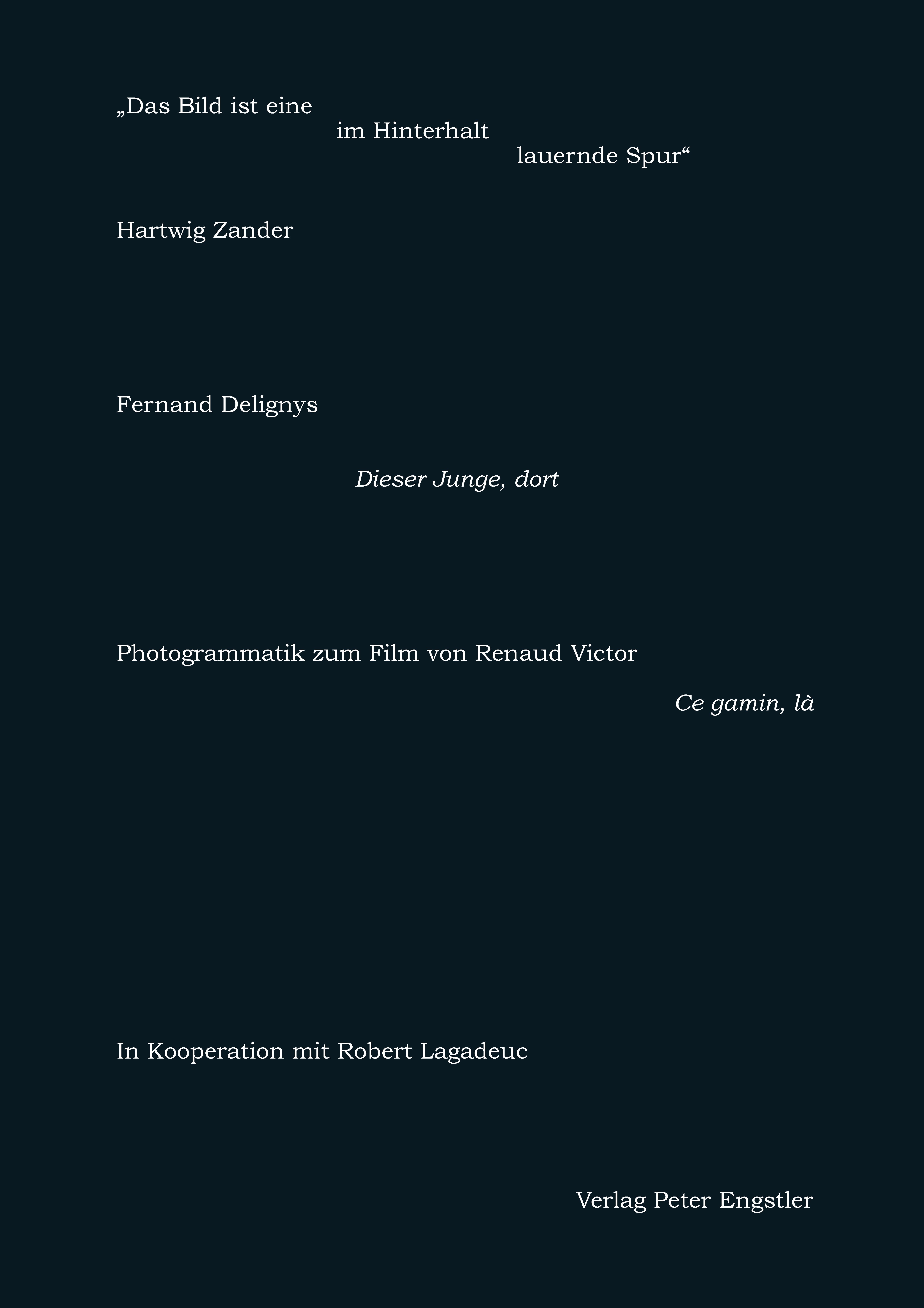 Zander, Hartwig: Das Bild ist eine im Hinterhalt lauernde Spur