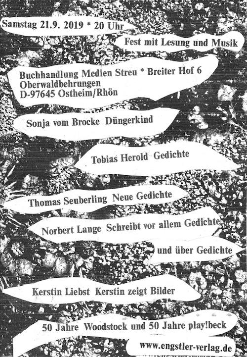 Buchhandlung Medien Streu, Ostheim am 21. September 2019